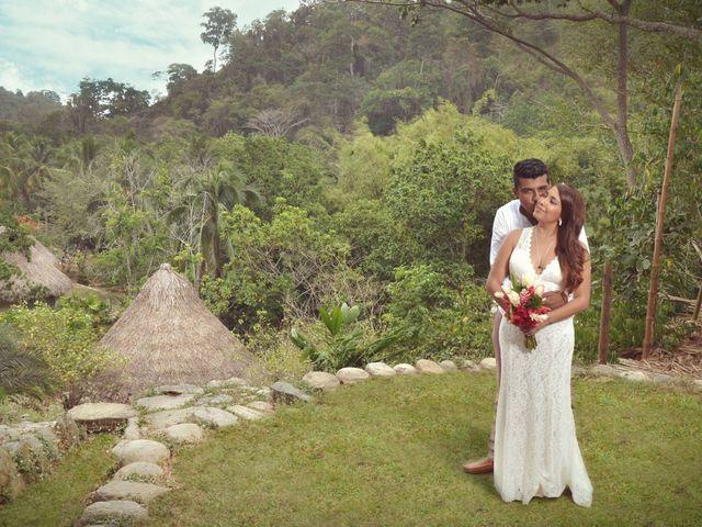 Diana y Bernardo, un matrimonio en el Parque Tayrona