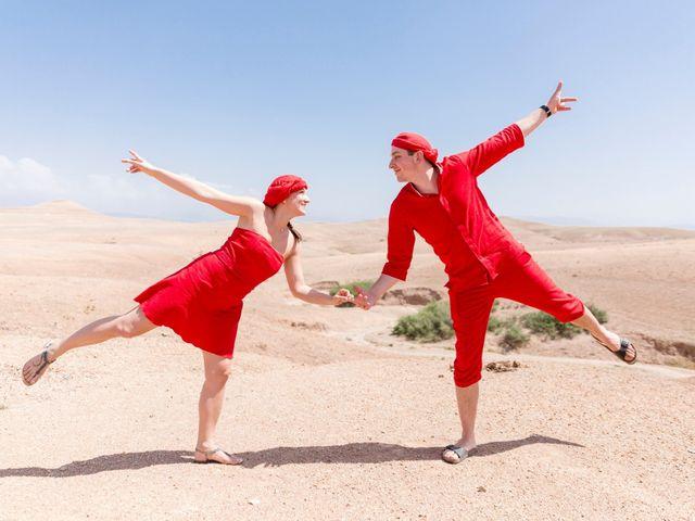 El increíble matrimonio de Charline y Bruno con viaje al desierto incluido