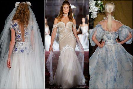 40 vestidos de novia con toques de color vistos en las pasarelas del NYIBW