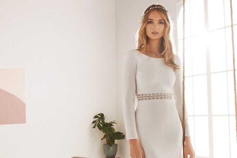 Modelos vestidos de novia sencillos