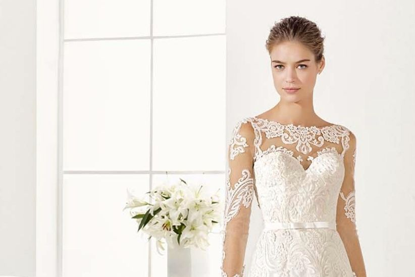 55 vestidos de novia con escote ilusión que nos trae este 2017