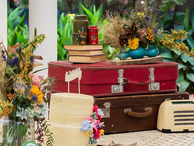 10 ideas de decoración con maletas antiguas para la boda