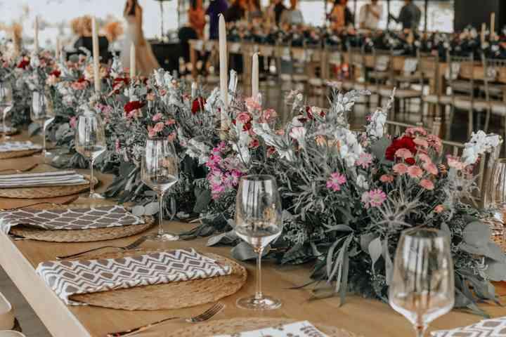 centros de mesa para boda largos