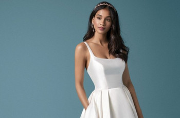 35 vestidos de novia sencillos para boda civil