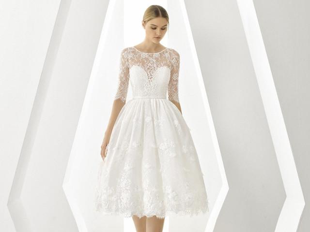 Los vestidos para novia corte 'midi' siguen vigentes