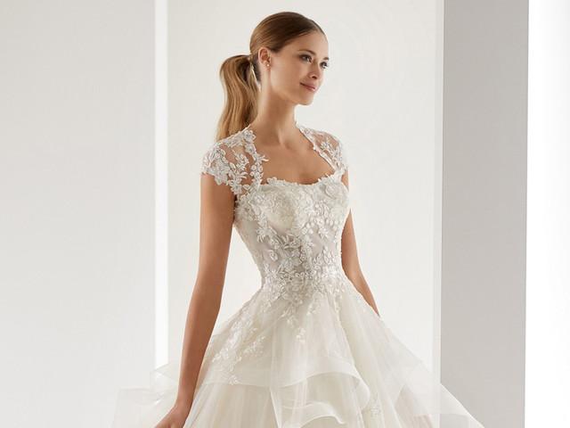 27 modelos de vestidos de novia con escote Reina Ana