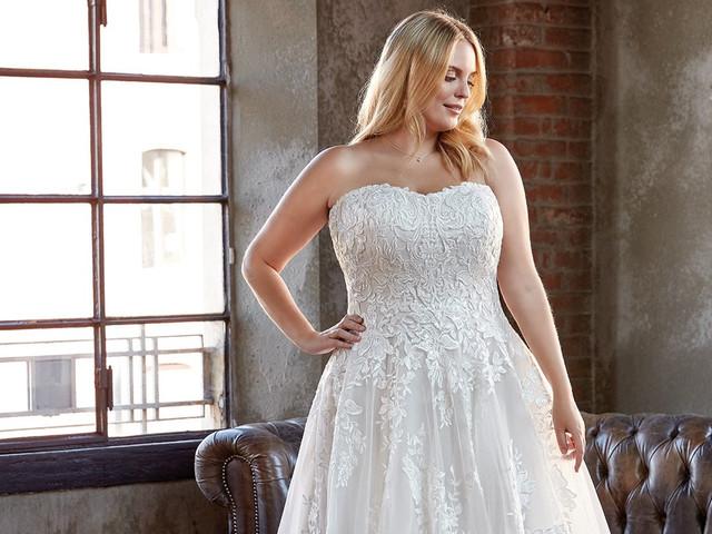 Vestidos de novia de talla grande: 120 modelos favorecedores