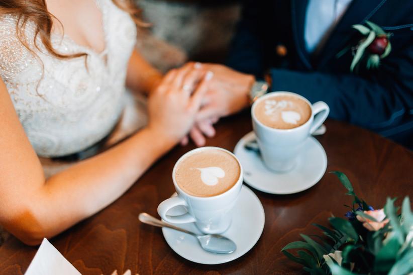 incluir café en el matrimonio