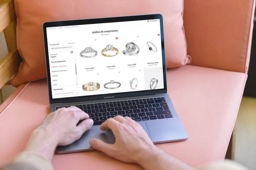web para buscar anillos de compromiso