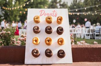 DIY: creen su propia tabla de donuts para la boda