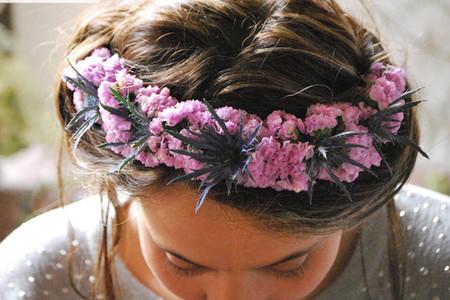 35 coronas de flores para el peinado de novia