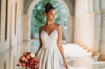 80 vestidos de novia sencillos 2020: románticos y muy seductores