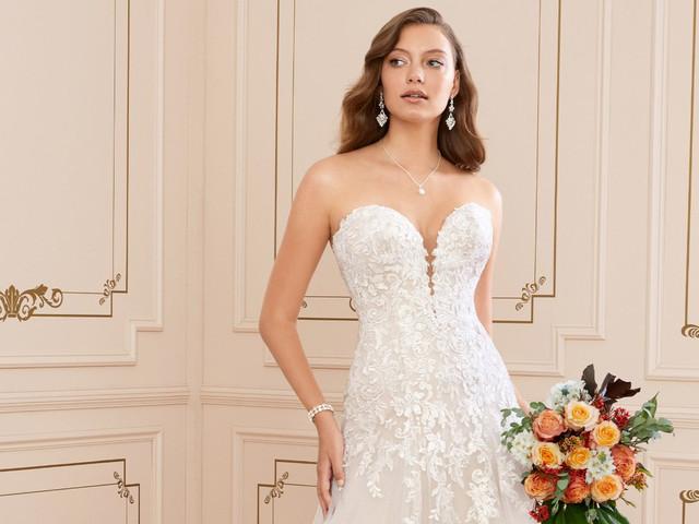 El corte evasé en vestidos de novia