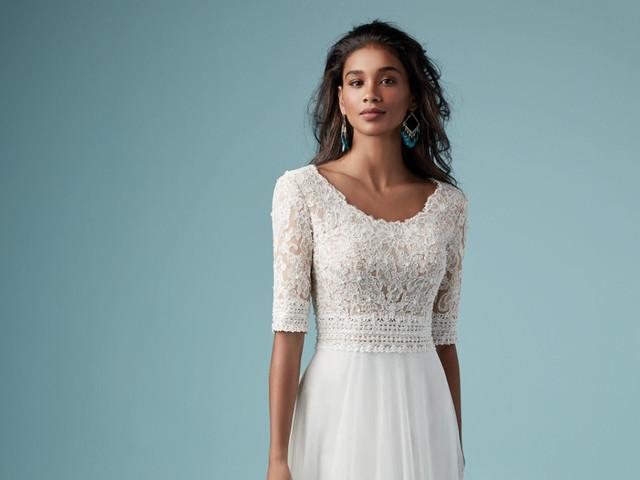 35 vestidos de novia con escote redondo