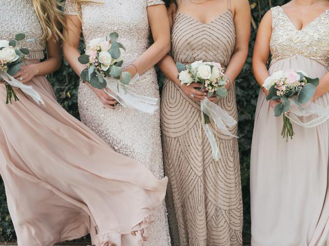 12 estilos de vestidos para damas de honor