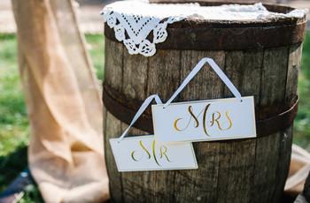 Barriles de madera para decorar en la boda