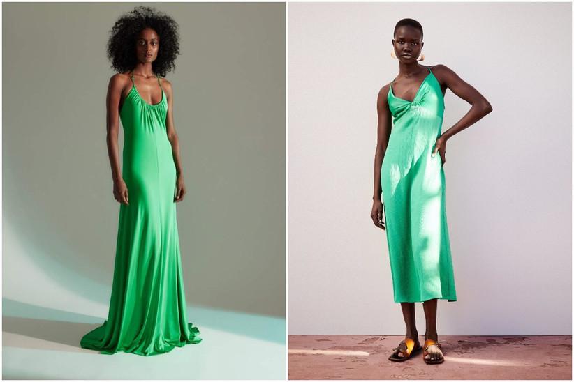 vestidos de fiesta verde electrico