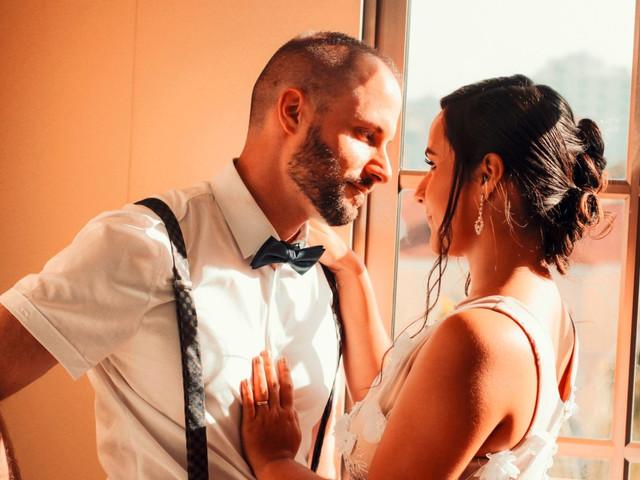 La sesion de fotos de bodas en casa de los novios