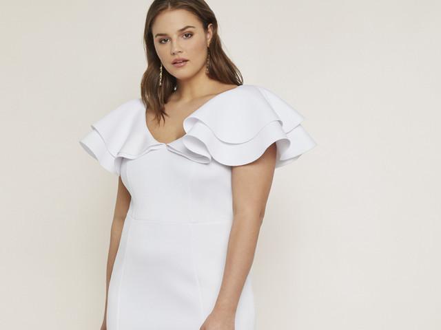 Vestidos de cóctel blanco para asistir a una boda