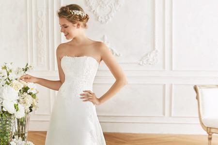 45 vestidos de novia con escote strapless