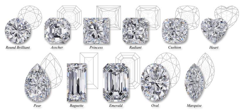 tipos de corte de diamante en anillos de compromiso