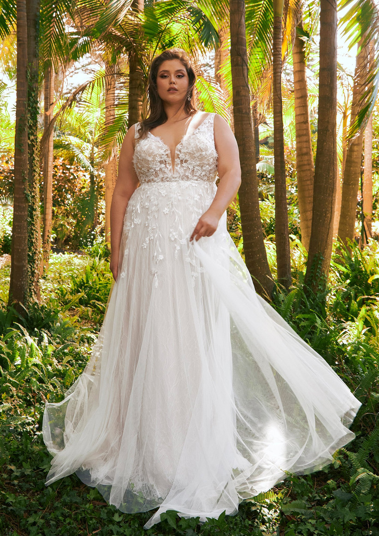 vestido de novia tallas grandes corte imperio