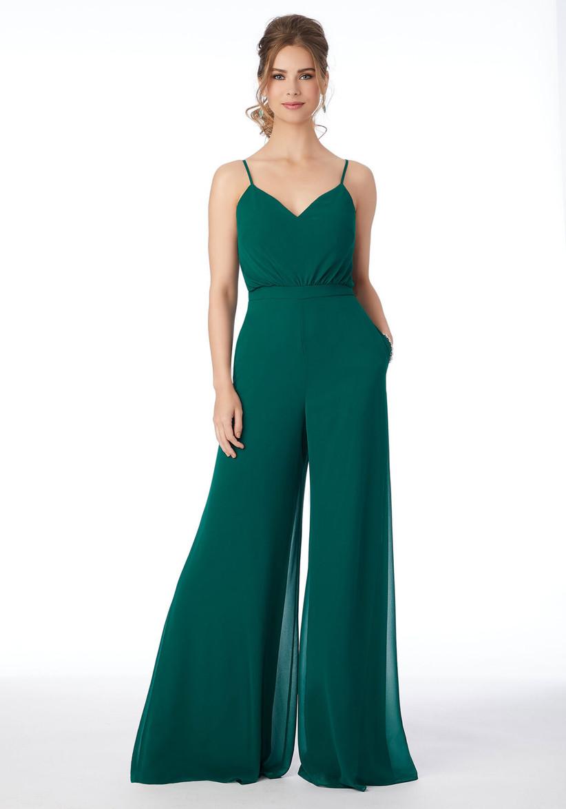 enterizo de fiesta para invitada color verde esmeralda