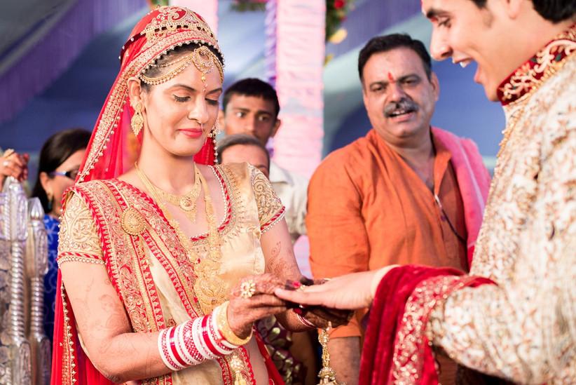 matrimonio hindu anillo de boda