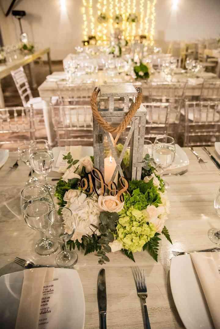 centros de mesa rústicos para boda