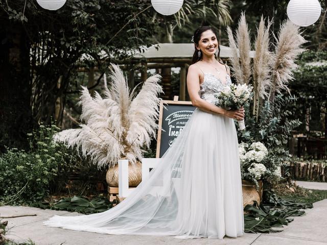 ¿Cómo encontrar el largo de un vestido de novia?