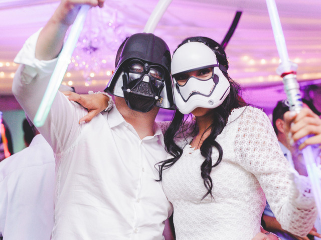 Decoración para matrimonio inspirada en 'Star Wars'