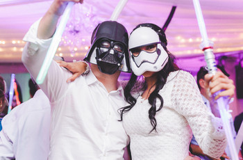 Decoración para matrimonio inspirada en 'Star Wars'