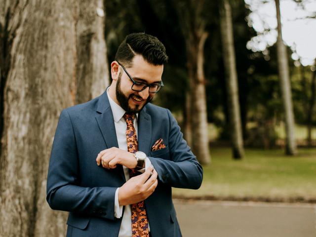 """Las fotografías del novio (antes y durante) el día del """"sí, acepto"""""""