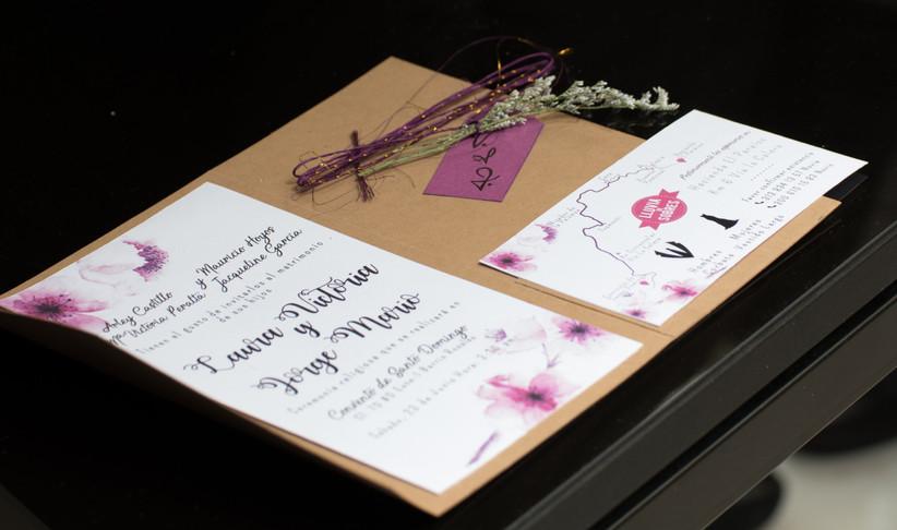 Invitación de boda ecológica para matrimonio campestre
