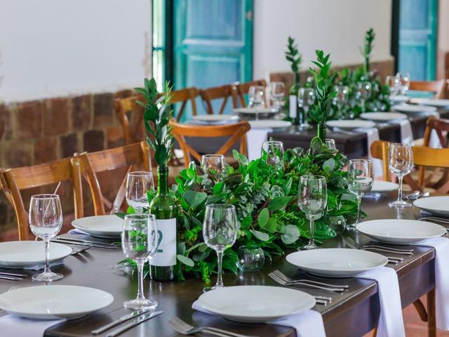 Ideas para unos centros de mesa para matrimonio sin flores
