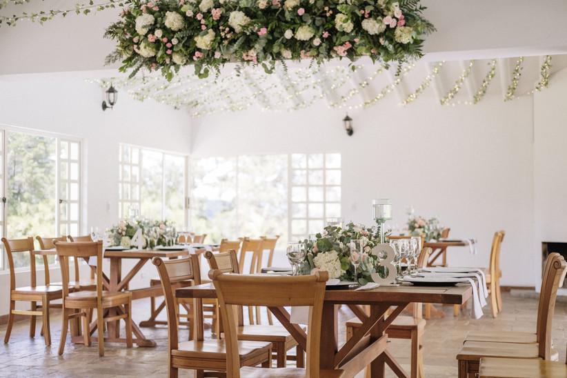 salón de fiesta para matrimonio decorado
