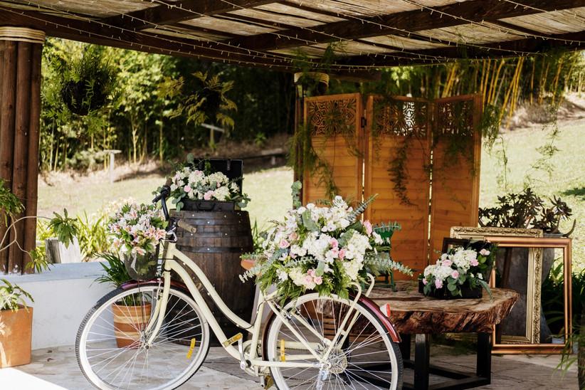 decoración vintage para boda de estilo rústico