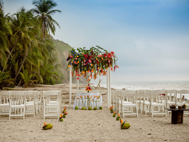 Decoración para matrimonio en la playa