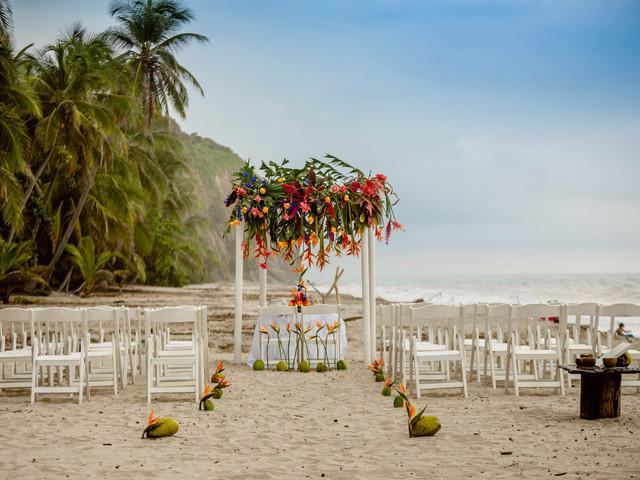 Decoración para un matrimonio en la playa