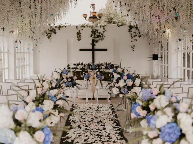 Decoración de iglesia para matrimonio