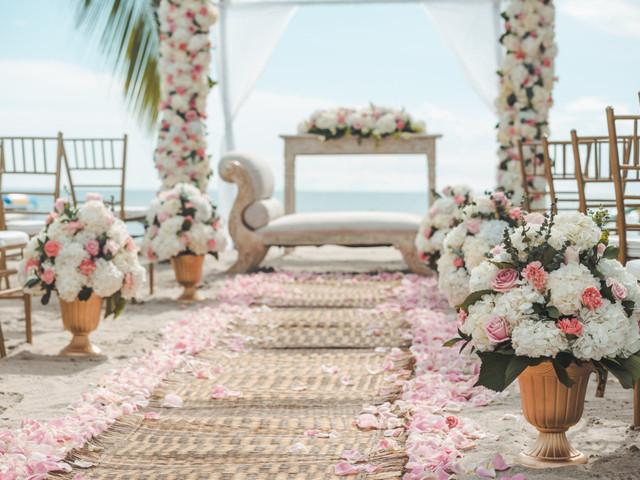 7 estilos para decorar el pasillo para la ceremonia de boda