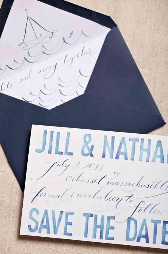 save the date para boda con tipografía