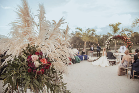 Hierba de la Pampa: la nueva tendencia en arreglos florales para boda
