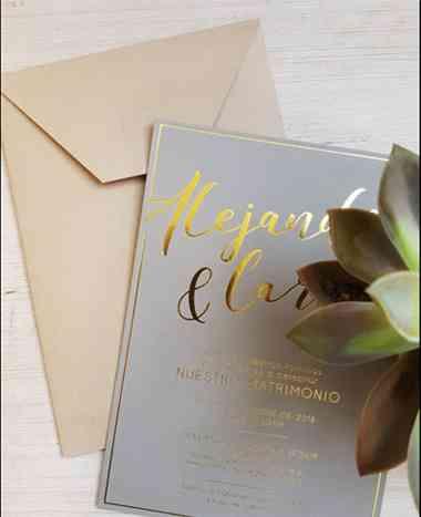tarjetas de matrimonio elegante