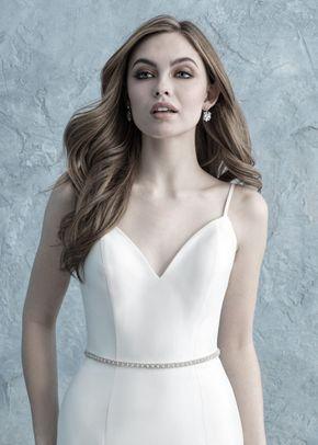 S150 beaded bridal sash, Allure Bridals