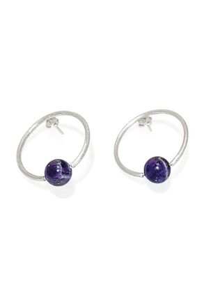 AMETHYST OVALE EARRINGS, Elisamaya