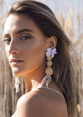 AMETHYST OVALE EARRINGS, Elisamaya