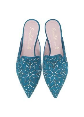Ella aqua studded slide, Pretty Ballerinas