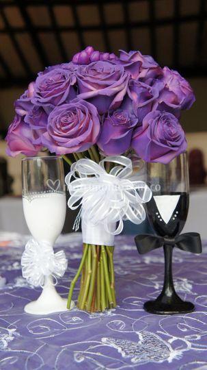 Bouquet y copas
