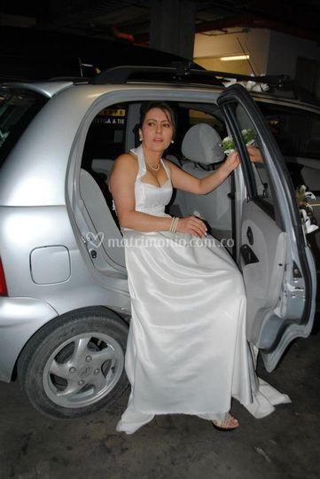 La novia llegando
